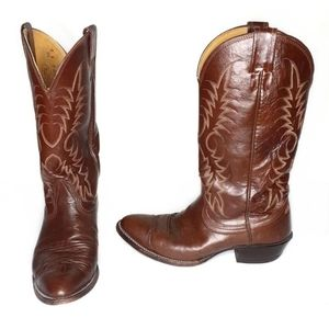 Nocona Mens Brown Leather Western Cowboy Boots